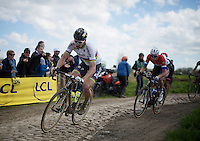 Peter Sagan (SVK/Tinkoff) in sector 14: Tilloy à Sars-et-Rosières (2.4km)<br /> <br /> 114th Paris-Roubaix 2016
