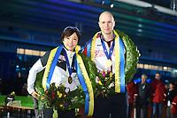SPEEDSKATING, HEERENVEEN: 24-02-2019, IJsstadion Thialf, ISU World Sprint Speed Skating Championships, Nao Kodaira, Pavel Koelizjnikov, ©photo Martin de Jong