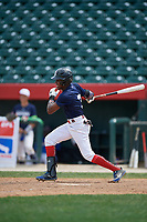 Omar Florentino (3) during the Dominican Prospect League Elite Underclass International Series, powered by Baseball Factory, on August 2, 2017 at Silver Cross Field in Joliet, Illinois.  (Mike Janes/Four Seam Images)