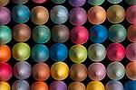 Chalk Multicolored in Rows
