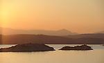 Sunrise along the coast of Croatia while sailing into Split.