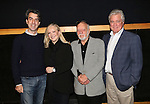 Jason Robert Brown, Susan Stroman, Hal Prince and David Thompson during the press day preview of 'Prince of Broadway' at SIR Studio on October 5, 2015 in New York City.