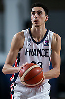 22nd February 2021, Podgorica, Montenegro; Eurobasket International Basketball qualification for the 2022 European Championships, England versus France;  Maxime Roos of France