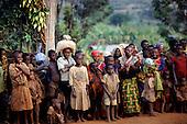 Gitega, Burundi. Group of local people.