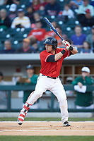 Skyler Weber (1) of the Georgia Bulldogs at bat against the Charlotte 49ers at BB&T Ballpark on March 8, 2016 in Charlotte, North Carolina. The 49ers defeated the Bulldogs 15-4. (Brian Westerholt/Four Seam Images)