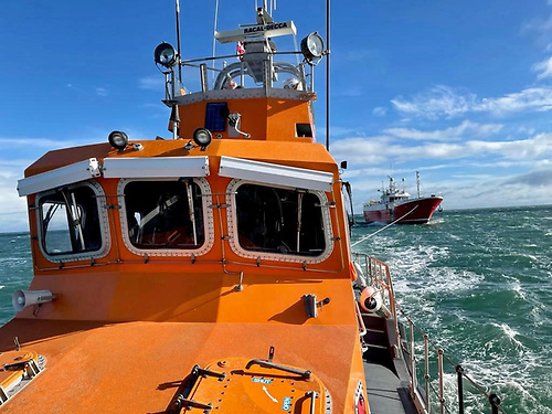 Larne RNLI bring 17 fishermen to safety after Spanish trawler breaks down