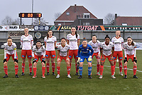 team of Zulte Waregem with goalkeeper Ianthe Meerschaert (31) of Zulte-Waregem   Romy Camps (3) of Zulte-Waregem   Ella Vierendeels (4) of Zulte-Waregem   Pauline Windels (5) of Zulte-Waregem   Amber De Priester (6) of Zulte-Waregem   Summer Rogiers (8) of Zulte-Waregem   Sheryl Merchiers (11) of Zulte-Waregem   Liesa Capiau (15) of Zulte-Waregem   Julie Devos (21) of Zulte-Waregem   Anne-Lore Scherrens (22) of Zulte-Waregem   Esther Buabadi (24) of Zulte-Waregem    pictured during a female soccer game between SV Zulte - Waregem and Sporting Charleroi on the eleventh matchday of the 2020 - 2021 season of Belgian Scooore Womens Super League , saturday 23 th of January 2021  in Zulte , Belgium . PHOTO SPORTPIX.BE | SPP | DIRK VUYLSTEKE