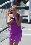 April 9,2017:  Daria Kasatkina (RUS) defeated Jelena Ostapenko (LAT) 6-3, 6-1, at the Volvo Car Open being played at Family Circle Tennis Center in Charleston, South Carolina.  ©Leslie Billman/Tennisclix/Cal Sport Media