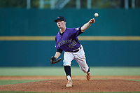Jaden Rudd (24) of A. Crawford Mosley HS in Lynn Haven, FL of the Colorado Rockies scout team during the East Coast Pro Showcase at the Hoover Met Complex on August 3, 2020 in Hoover, AL. (Brian Westerholt/Four Seam Images)