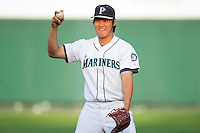 Yao Wen Chang #71 of the Pulaski Mariners at Calfee Park August 29, 2010, in Pulaski, Virginia.  Photo by Brian Westerholt / Four Seam Images