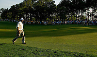 NBA legend Michael Jordan walks up the fairway while playing a round with Tiger Woods during the 2007 Wachovia Championships at Quail Hollow Country Club in Charlotte, NC.