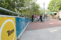 Fans enter the ground through the new Tees river gate during Essex Eagles vs Sussex Sharks, Vitality Blast T20 Cricket at The Cloudfm County Ground on 15th June 2021