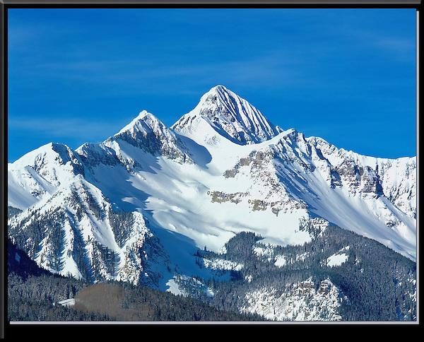 Wilson Peak (14017 feet) after a snowstorm, Telluride, Colorado, USA.