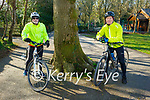 Enjoying a cycle in the Killarney National park on Saturday, l to r: Mike O'Neill and Mike Daly.
