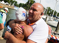 MULLER Aurelie FRA gold medal European Champion<br /> Hoorn, Netherlands <br /> LEN 2016 European Open Water Swimming Championships <br /> Open Water Swimming<br /> Women's 10km<br /> Day 01 10-07-2016<br /> Photo Giorgio Perottino/Deepbluemedia/Insidefoto