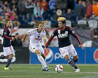 Foxborough, Massachusetts - September 26, 2015: In a Major League Soccer (MLS) match, the New England Revolution (blue/white) tied Philadelphia Union (white), 1-1, at Gillette Stadium.