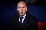Real Madrid coach Zinedine Zidane during La Liga match between Atletico de Madrid and Real Madrid at Wanda Metropolitano in Madrid, Spain. November 18, 2017. (ALTERPHOTOS/Borja B.Hojas)