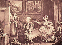 William Hogarth:  A Harlot's Progress--Plate 2.  Reference only.
