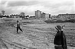Hoxton area Tower Hamlets east London. Kids throwing stones. 1978 UK<br /> <br /> My ref 26a/3520/,1978,