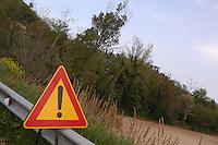 Cartello stradale.Road sign...