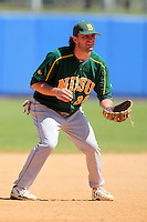 North Dakota State Bisons Jay Hartman #36 during a game vs Bradley Braves at Chain of Lakes Park in Winter Haven, Florida;  March 17, 2011.  Bradley defeated North Dakota State 6-5.  Photo By Mike Janes/Four Seam Images