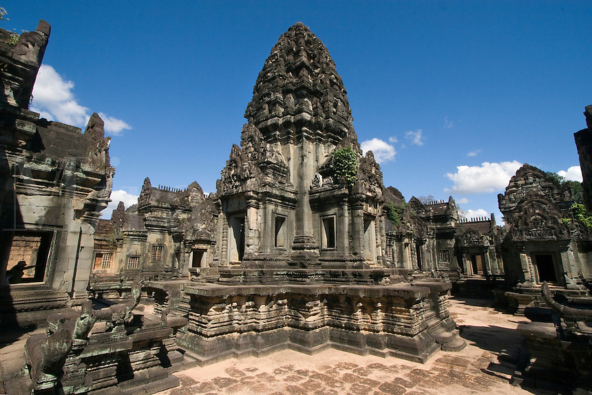 Central Hindu temple at East Mebon, built by Rajendravarman in the10th century - Angkor Wat, Siem Reap, Cambodia....