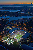 """This photo was taken on Opening Night at the new Husky Stadium, during the game against the Boise State Broncos on August 31, 2013.<br /> <br /> This image is available as a Limited Edition metallic print measuring 12"""" x 18"""" (select the metallic print from the price options when you add to cart).  You may also purchase smaller lustre prints or license it for commercial use.<br /> <br /> *If you are interested in a large limited edition (of 10) aluminum print measuring 16"""" x 24"""", please contact me.<br /> <br /> **No, the watermark will not appear on the final image!"""