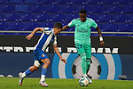 28th June 2020; RCDE Stadium, Barcelona, Catalonia, Spain; La Liga Football, Real Club Deportiu Espanyol de Barcelona versus Real Madrid; Picture show vinicius jr.