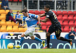 St Johnstone v Celtic…20.08.16..  McDiarmid Park  SPFL<br />Saidy Janko fouls Danny Swanson<br />Picture by Graeme Hart.<br />Copyright Perthshire Picture Agency<br />Tel: 01738 623350  Mobile: 07990 594431
