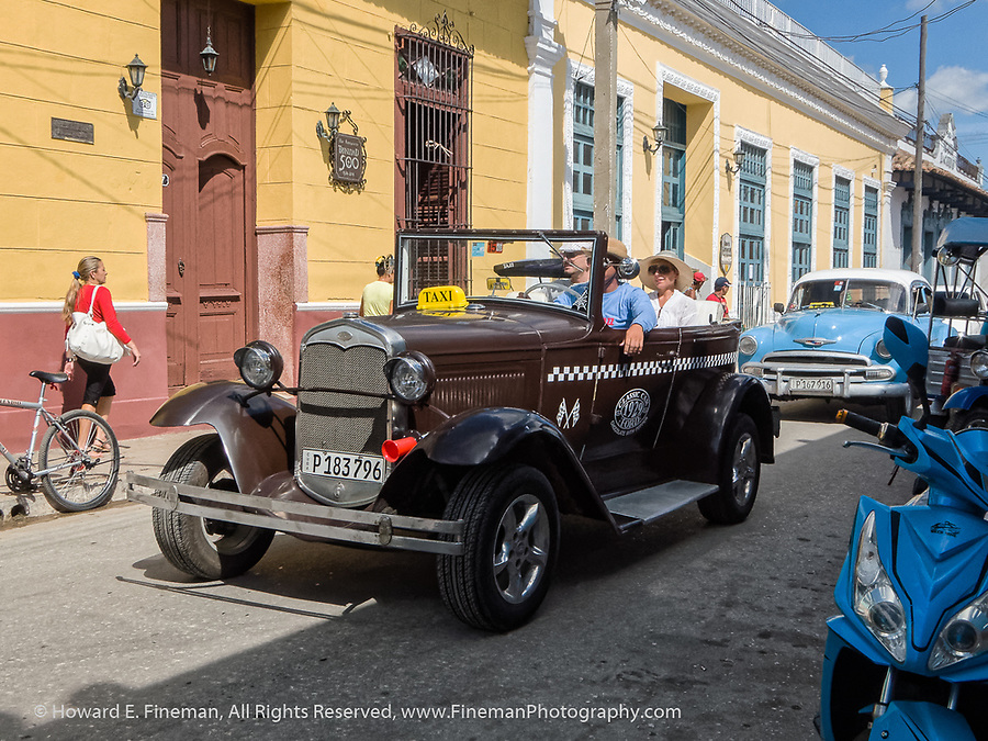Classic 1929 Ford tourist taxi, Trinidad