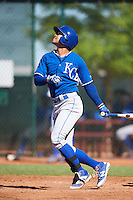 Kansas City Royals Amalani Fukofuka (12) during an Instructional League game against the Cleveland Indians on October 11, 2016 at the Cleveland Indians Player Development Complex in Goodyear, Arizona.  (Mike Janes/Four Seam Images)