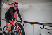 Mathieu Van Der Poel (NED/Corendon Circus) pre race warming up.<br /> <br /> Men Elite Race<br /> UCI CX Worlds 2018<br /> Valkenburg - The Netherlands