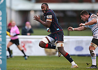 Uanivi of London Scottish scores a try during the Greene King IPA Championship match between London Scottish Football Club and Bedford Blues at Richmond Athletic Ground, Richmond, United Kingdom on 23 December 2017. Photo by Mark Kerton / PRiME Media Images.