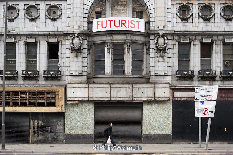 Empty cinema in central Liverpool.
