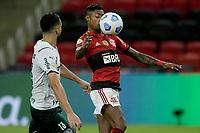 30th May 2021; Maracana Stadium, Rio de Janeiro, Brazil; Brazilian Serie A, Flamengo versus Palmeiras; Bruno Henrique of Flamengo brings down the ball in front of Luan of Palmeiras
