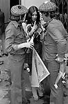 Scottish football fans at an International England v Scotland Wembley Stadium, 1975.  Too much to drink.