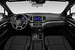 Stock photo of straight dashboard view of 2019 Honda Passport Sport 5 Door SUV Dashboard