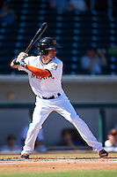 Mesa Solar Sox Yefri Perez (1), of the Miami Marlins organization, during a game against the Surprise Saguaros on October 14, 2016 at Sloan Park in Mesa, Arizona.  Mesa defeated Surprise 10-4.  (Mike Janes/Four Seam Images)