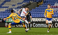 Bolton Wanderers' Antoni Sarcevic (centre) shoots at goal <br /> <br /> Photographer Andrew Kearns/CameraSport<br /> <br /> The EFL Sky Bet League Two - Bolton Wanderers v Mansfield Town - Tuesday 3rd November 2020 - University of Bolton Stadium - Bolton<br /> <br /> World Copyright © 2020 CameraSport. All rights reserved. 43 Linden Ave. Countesthorpe. Leicester. England. LE8 5PG - Tel: +44 (0) 116 277 4147 - admin@camerasport.com - www.camerasport.com