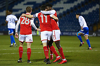 GOAL - Fleetwood Town's Bobby Grant (11) elebrates scoring his sides second goal with team-mate during the The Checkatrade Trophy match between Bury and Fleetwood Town at Gigg Lane, Bury, England on 9 January 2018. Photo by Juel Miah/PRiME Media Images.