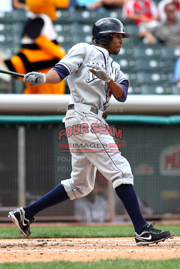 May 30, 2009:  Chris Roberson of the Reno Aces, Pacific Cost League Triple A affiliate of the Arizona Diamondbacks, during a game at the Spring Mobile Ballpark in Salt Lake City, UT.  Photo by:  Matthew Sauk/Four Seam Images
