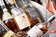 A bucket of wines on ice.