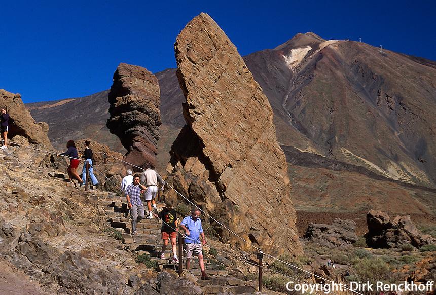 Spanien, Kanarische Inseln, Teneriffa, Teide-Park, Los Roques und Teide, Unesco-Weltkulturerbe