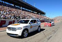 Oct. 28 2011; Las Vegas, NV, USA: NHRA funny car driver Johnny Gray during qualifying for the Big O Tires Nationals at The Strip at Las Vegas Motor Speedway. Mandatory Credit: Mark J. Rebilas-