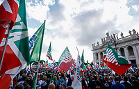 "Protesters attend the so-called ""Italian Pride!"" political rally attended by right parties' leaders against government's economic policies in St. John Lateran Square, Rome, Italy, October 19, 2019.<br /> Update Images Press/Riccardo De Luca"