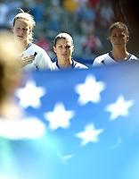 Mia Hamm , USA vs Canada, 2003 WWC Consolation Finals.