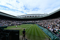 8th July 2021, Wimbledon, SW London, England; 2021 Wimbledon Championships, quarterfinals; General view of the centre court