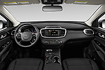 Stock photo of straight dashboard view of 2020 KIA Sorento S-V6 5 Door SUV Dashboard