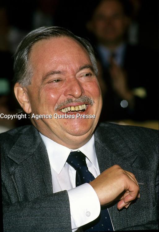 Montreal (Qc) CANADA, November 1994 File Photo -<br /> Parti Quebecois- (PQ) Leader Jacques Parizeau.<br /> <br /> Photo by Pierre Roussel /AQP