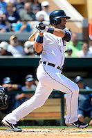 Detroit Tigers catcher Alex Avila #13 during a Spring Training game against the Tampa Bay Rays at Joker Marchant Stadium on March 29, 2013 in Lakeland, Florida.  (Mike Janes/Four Seam Images)
